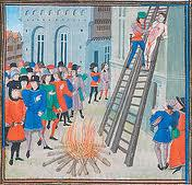 Hugh Despenser's execution (no sign of Isabella)